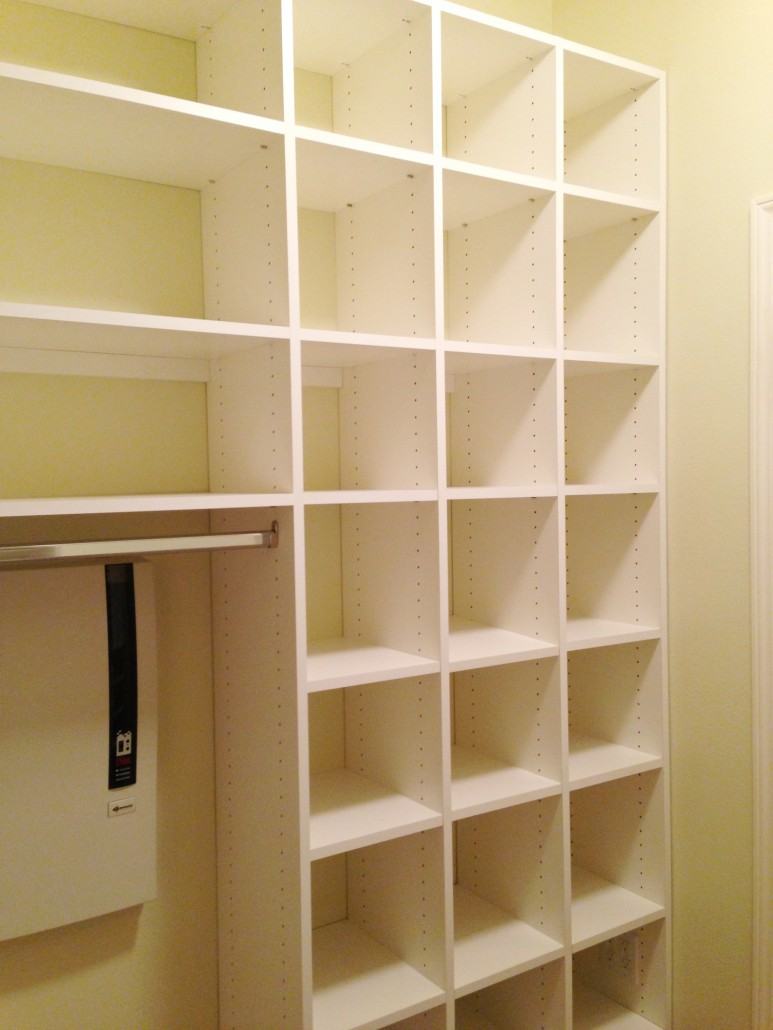 Laundry Room Closet Shelves