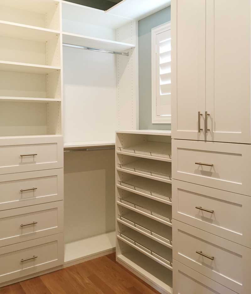 Adjustable closet cabinets quality custom made closet and cabinets in santa clarita - Custom made cabinet ...